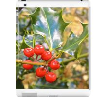 Brilliant Holly And Berries  iPad Case/Skin
