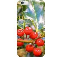Brilliant Holly And Berries  iPhone Case/Skin