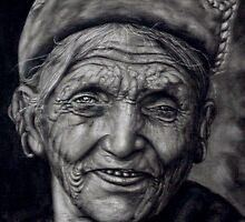 nepali old woman by johnsonmoya
