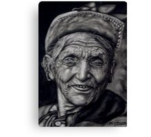 nepali old woman Canvas Print