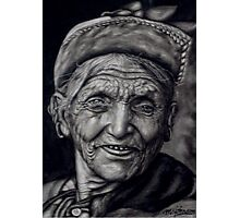 nepali old woman Photographic Print