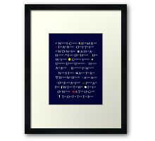 Game of Thrones House Mottos Framed Print