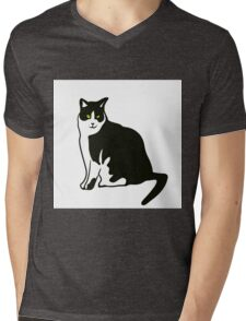 cat Mens V-Neck T-Shirt