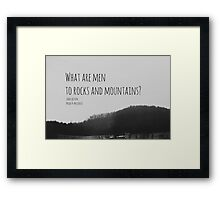 Jane Austen Mountain Framed Print