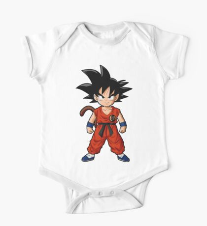 Young Kid Saiyan Goku in Yellow One Piece - Short Sleeve