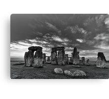 Stonehenge Monochrome Canvas Print