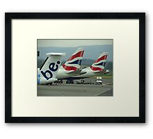 Be British ! Glasgow Airport Framed Print
