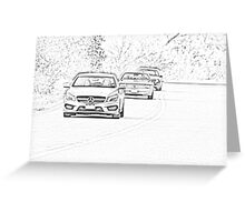 Mercedes-Benz Driving Greeting Card