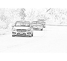 Mercedes-Benz Driving Photographic Print
