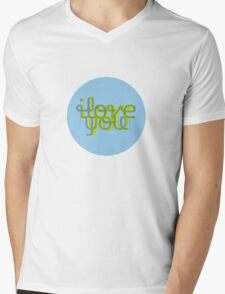 I love Y Mens V-Neck T-Shirt