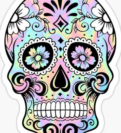 Sugar Skull Rainbow Sticker