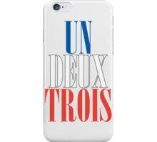 UN DEUX TROIS iPhone Case/Skin