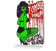 Zombie Pinup #1 Greeting Card
