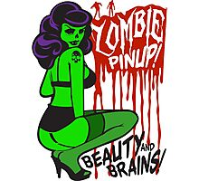 Zombie Pinup #1 Photographic Print