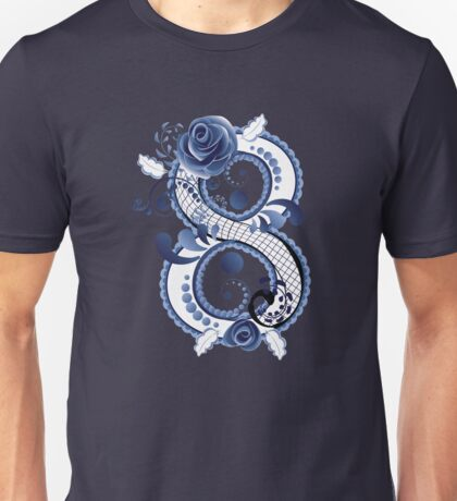 Blue Floral Eight 3 Unisex T-Shirt