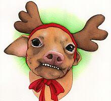 Tuna melts my heart Reindeer by PaperTigressArt