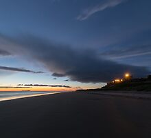 Bamburgh In Blue. by Dave Staton