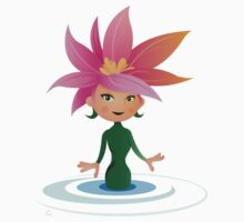 Lily, the flower girl. T-Shirt