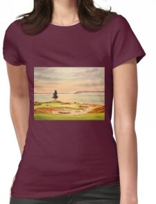 Chambers Bay Golf Course Womens Fitted T-Shirt