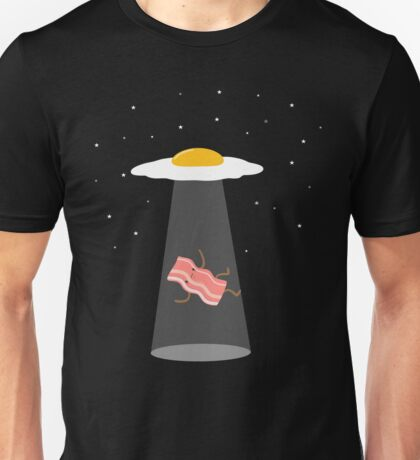 Cool Bacon and Eggs UFO  Unisex T-Shirt