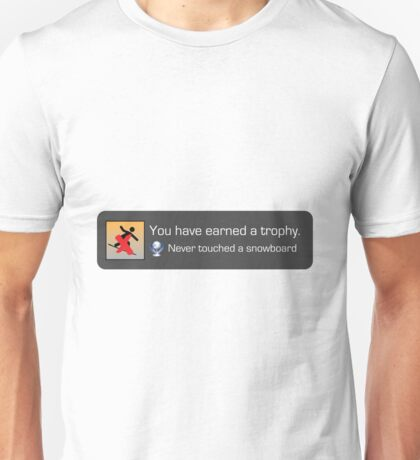 Playstation Trophy - Never Touched a Snowboard Unisex T-Shirt