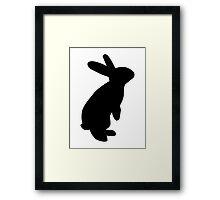Black bunny Framed Print