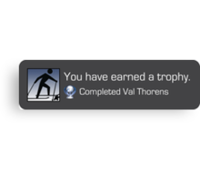 Playstation Trophy - Completed Val Thorens Canvas Print