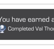 Playstation Trophy - Completed Val Thorens Sticker
