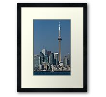 Up Close and Personal - CN Tower, Toronto Harbor and the City Skyline From a Boat Framed Print