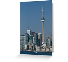 Up Close and Personal - CN Tower, Toronto Harbor and the City Skyline From a Boat Greeting Card