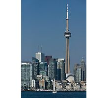 Up Close and Personal - CN Tower, Toronto Harbor and the City Skyline From a Boat Photographic Print