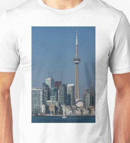 Up Close and Personal - CN Tower, Toronto Harbor and the City Skyline From a Boat Unisex T-Shirt