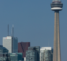 Up Close and Personal - CN Tower, Toronto Harbor and the City Skyline From a Boat Sticker