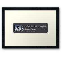 Playstation Trophy - Survived Tignes Framed Print