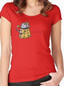 fish dalek Women's Fitted Scoop T-Shirt