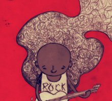 Rock and Roll Man Sticker