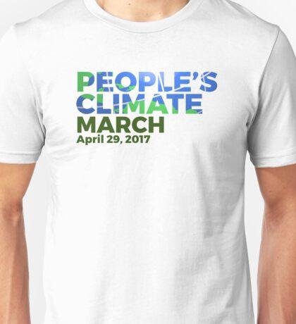 People's Climate March April 29, 2017 Unisex T-Shirt