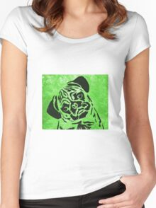 pug 18a Women's Fitted Scoop T-Shirt