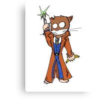 Doctor cat Canvas Print