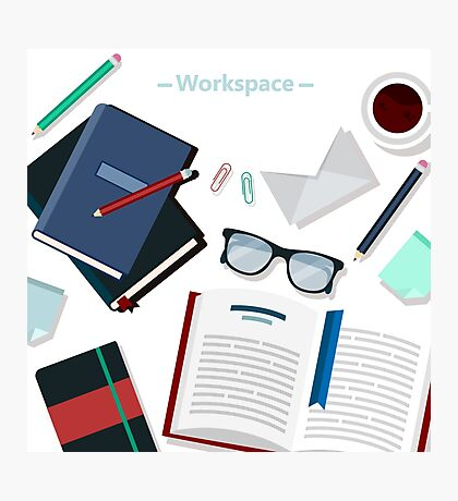 Modern Business Office Workspace Photographic Print