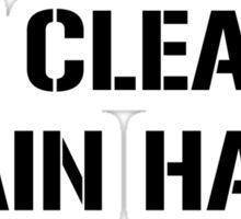 eat clean train hard Sticker
