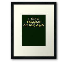 Baggins Framed Print