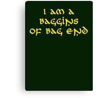 Baggins Canvas Print