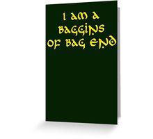 Baggins Greeting Card