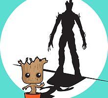 Gainz like Groot by paperpangolin