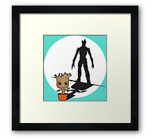 Gainz like Groot Framed Print