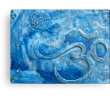 Om blue Metal Print