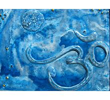 Om blue Photographic Print