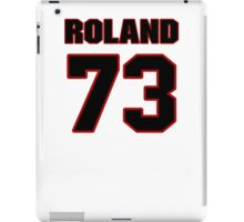 NFL Player Dennis Roland seventythree 73 iPad Case/Skin