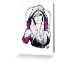 Spider-verse Spider-Woman Greeting Card